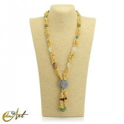 Yellow calcite necklace - model 3