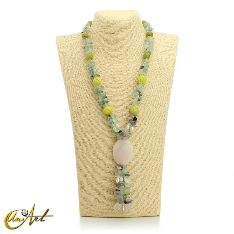 Fluorite necklace - model 1