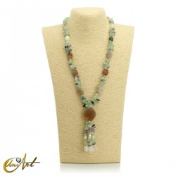 Fluorite necklace - model 2