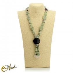 Fluorite necklace - model 3