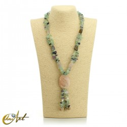 Fluorite necklace - model 4
