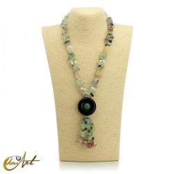 Fluorite necklace - model 5
