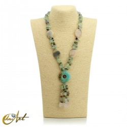 Fluorite necklace - model 6