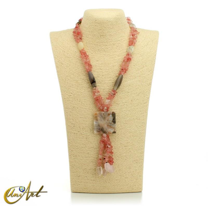 Collar de cuarzo cherry - modelo 1