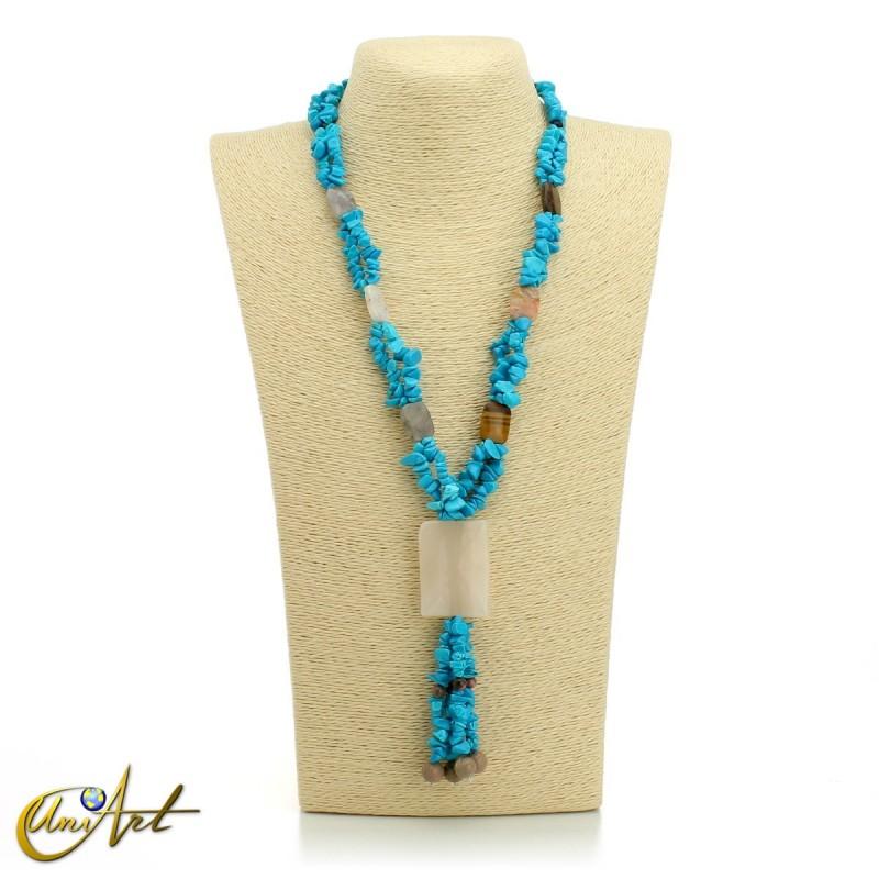 Turquenite necklace - model 1