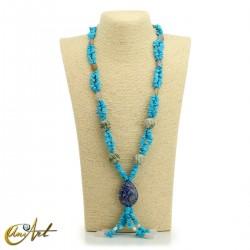 Turquenite necklace - model 2