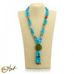 Turquenite necklace - model 3