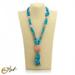 Turquenite necklace - model 4