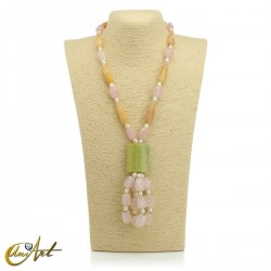 Necklace with natural stones - model 5