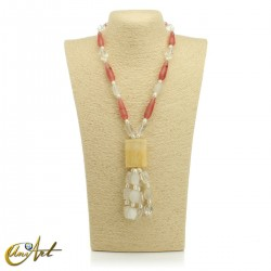 Necklace with natural stones - model 7