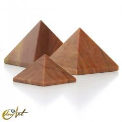 Pirámide de aventurina naranja