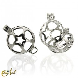 Cage pendant for sphere without sphere