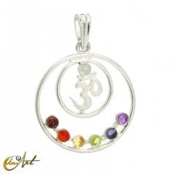 Chakra pendant with OM
