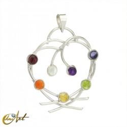Heart of the chakras, pendant