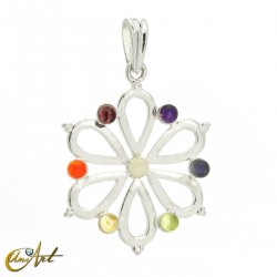 Hindu flower Chakras pendant
