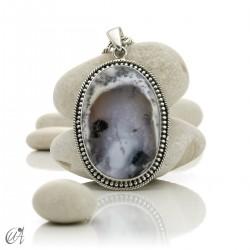 Dendritic opal pendant in sterling silver