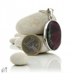 Colgante de rubí en plata de ley, ovalado -  modelo 3
