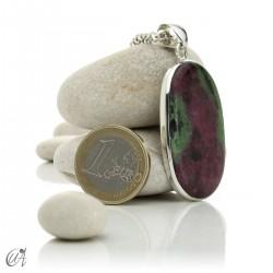 Colgante de rubí en plata de ley, ovalado -  modelo 9