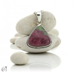 Silver and ruby pendant, model 3
