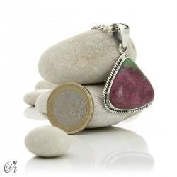 Colgante de plata y rubí, modelo 3