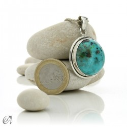 Natural turquoise pendant in 925 silver - model 1