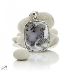 Silver and merlinite pendant