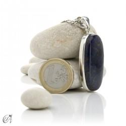 Azurita en plata de ley, colgantes ovalados - modelo 8