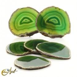Set de lámina de ágata de tonos verdes - modelo 1