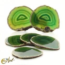 Green-toned agate sheet set - model 1