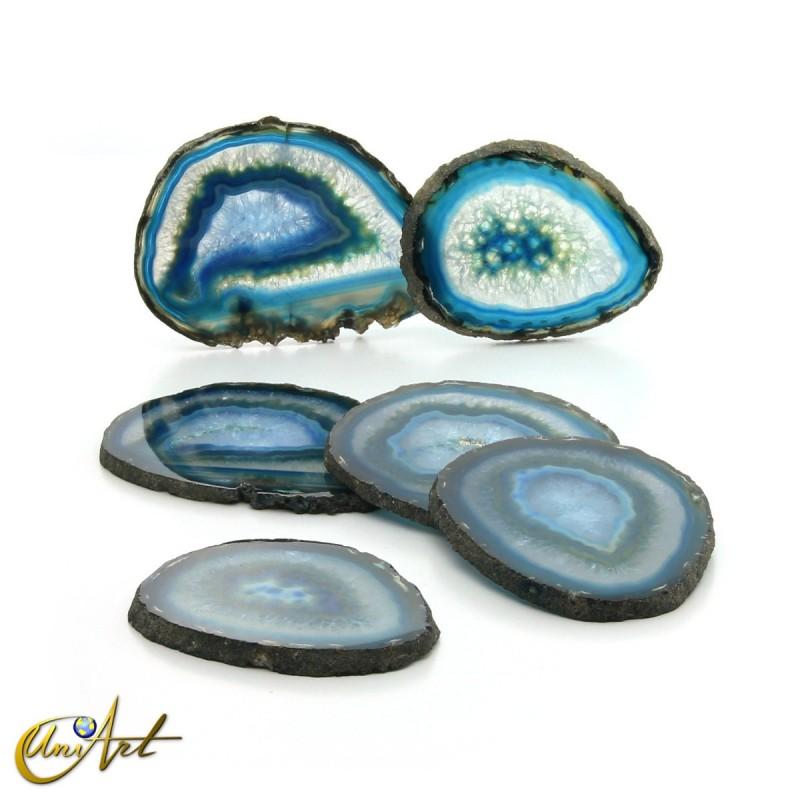Blue agate - veneer set, model 1