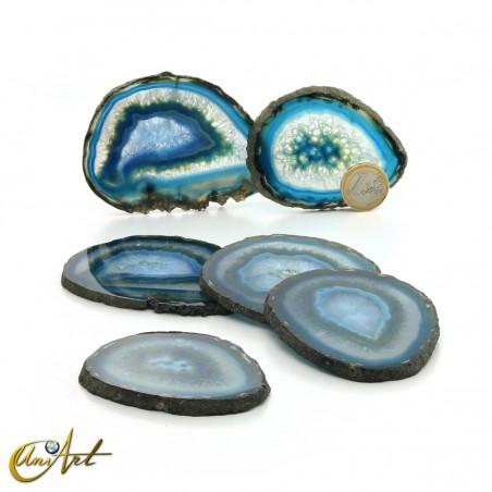 Ágata azul - conjunto de chapas - modelo 1