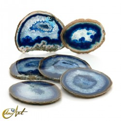 Ágata azul - conjunto de chapas - modelo 4