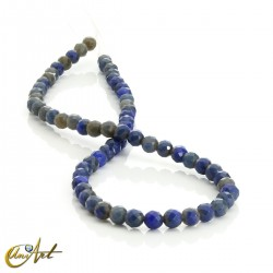 6mm blue agate faceted beads