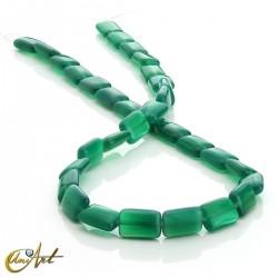 Ágata verde, abalorios rectangulares