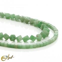 Green aventurine, cube shaped beads