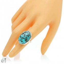Turquoise ring in sterling silver, size 14 model 2