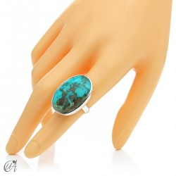 Turquoise ring in sterling silver, size 14 model 3