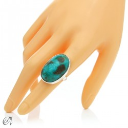 Turquoise ring in sterling silver, size 15 model 1