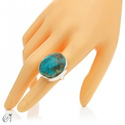 Turquoise ring in sterling silver, size 15 model 2