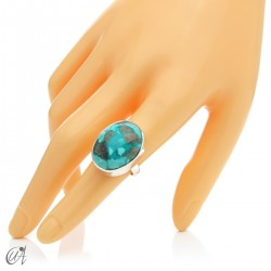 Turquoise ring in sterling silver, size 16 model 3