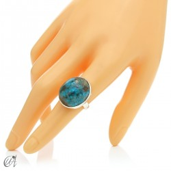 Turquoise ring in sterling silver, size 17 model 1