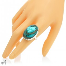 Turquoise ring in sterling silver, size 17 model 3