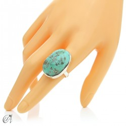 Turquoise ring in sterling silver, size 17 model 2