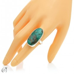 Turquoise ring in sterling silver, size 18 model 3