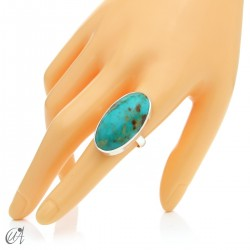 Turquoise ring in sterling silver, size 19 model 2