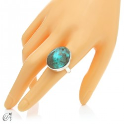 Turquoise ring in sterling silver, size 20 model 1
