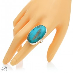 Turquoise ring in sterling silver, size 20 model 3