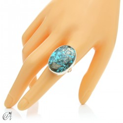 Turquoise ring in sterling silver, size 21 model 3