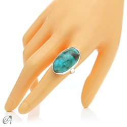 Turquoise ring in sterling silver, size 22 model 1
