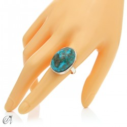 Turquoise ring in sterling silver, size 22 model 2